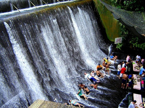 Villa Escudero Waterfall Restaurant